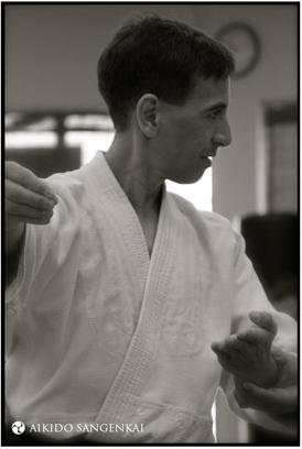 Chris Li at the Aikido Sangenkai