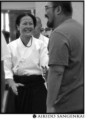 Dayna and Mert at the Aikido Sangenkai